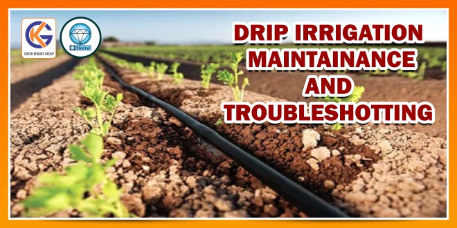 DRIP IRRIGATION MAINTENANCE AND TROUBLESHOOTING